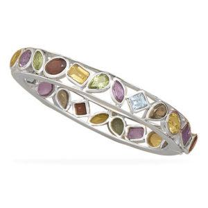 Multistone Sterling Silver Bracelet