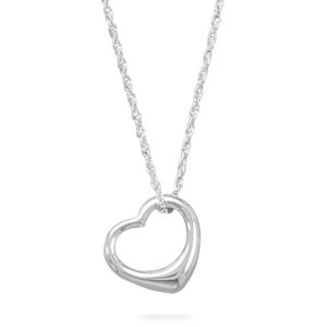Necklace and Floating Heart Pendant