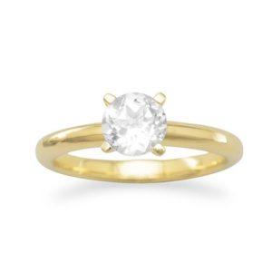 14K Topaz Promise Ring