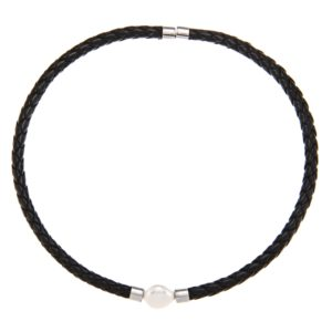 Black-Leather-White-Pearl-DaVonna-Black-Braided-Leather-and-FW-Pearl-Chocker-Necklace