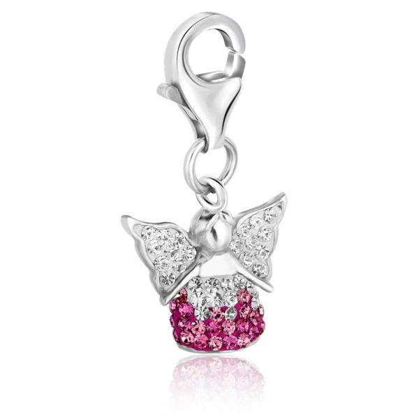 071605574020-pink angel charm